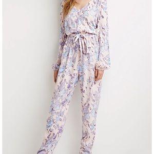 Pastel pink blue lavender jumpsuit